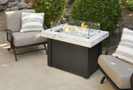 Outdoor Greatroom White Providence Rectangular Gas Fire Pit Table