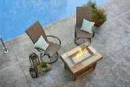 Outdoor Greatroom Vintage Rectangular Gas Fire Pit Table