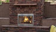 "Superior Purefire 36"" Paneled Outdoor Wood-Burning Fireplace - White Herringbone Refractory Panels"