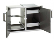 Firemagic Premium Flush Mounted 20 x 30 Double Access Doors, Louvered Dual Drawers and Trash/Tank tray with Soft Close System - 53930SC-12T