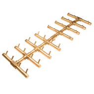 CROSSFIRE™ CFBDT320 Double Tree-Style Brass Burner