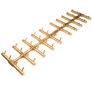 CROSSFIRE™ CFBDT400 Double Tree-Style Brass Burner