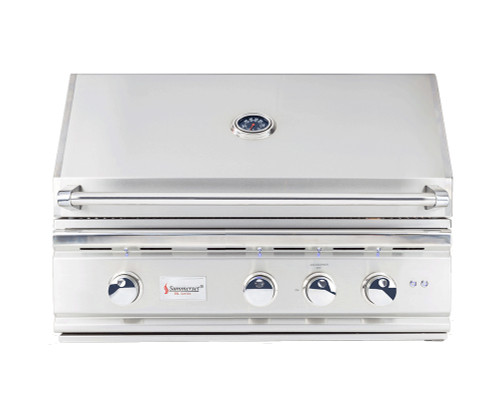 Loaded features in the TRL32 Gas Grill by summerset, stainless steel u burners, led lighting inside and out, 304 stainless steel, all at under $2,000
