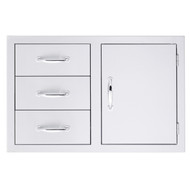 Summerset Door/3-Drawer Combo - Storage Drawers - SSDC-3