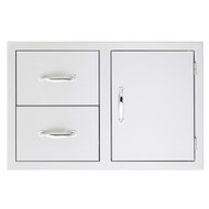 Summerset Masonry Door/2-Drawer Combo (Masonry Flange) - SSDC-M