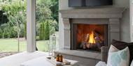 """Majestic Courtyard 36"""" Outdoor Traditional Fireplace with IntelliFire Ignition"""