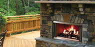 """Majestic Montana 36"""" Outdoor Stainless Steel Wood Fireplace"""
