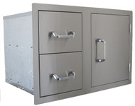 """Beefeater 32"""" Stainless Steel Access Door & Dual Drawer"""