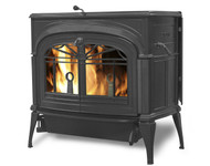 Vermont Castings Encore FlexBurn Wood Stove shown in Classic Black