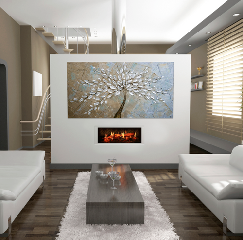 Opti-V Duet uses unprecedented technology to render flames and sparks for a virtual fireplace experience like no other
