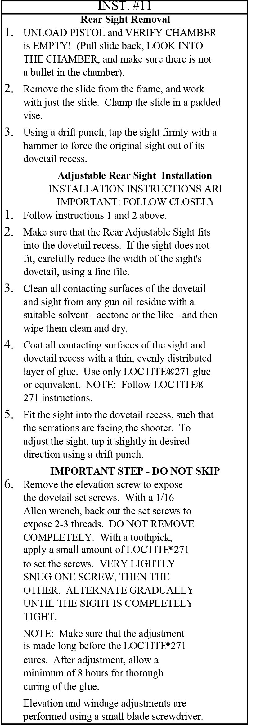 Instructions For Dp Parts Glock 22 Diagram Also With Kimber 1911 Compensator Installation