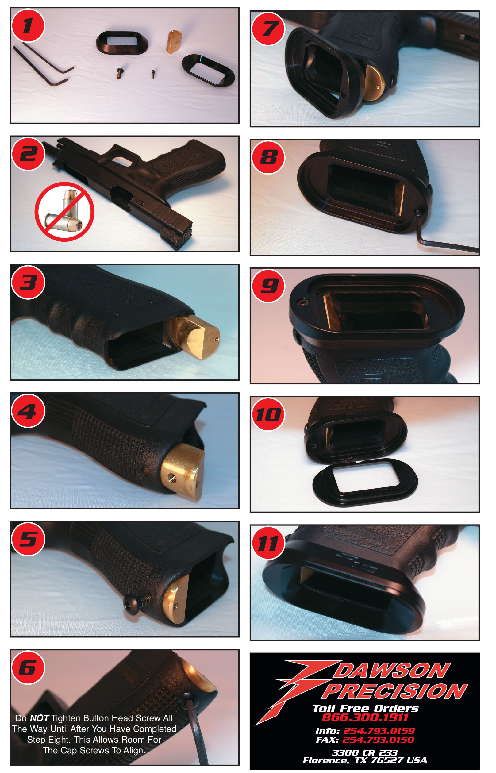 Instructions For Dp Parts Glock Schematic Diagram Together With 22 Magazine Maintenance