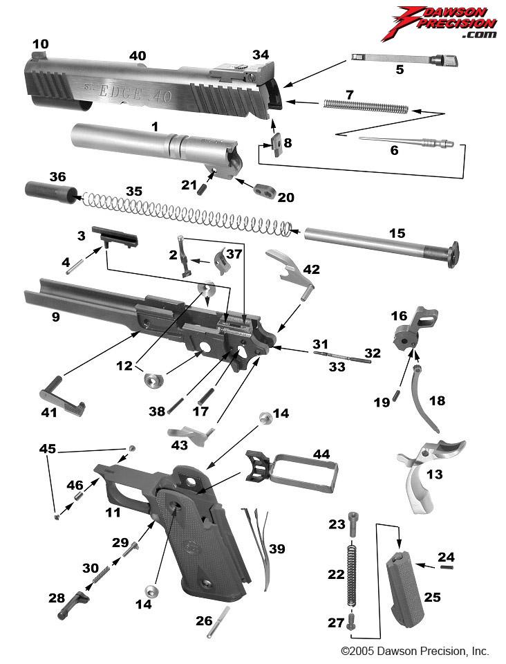 exploded views rh dawsonprecision com 1911 exploded view pdf colt 1911 exploded diagram