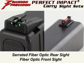 Dawson Precision Glock 42 Fixed Carry Sight Set - Fiber Optic Rear & Fiber Optic Front