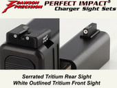 Dawson Precision Glock * Fixed Charger Sight Set - Tritium Rear & Tritium Front