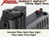 Dawson Precision HK VP9 Fixed Carry Sight Set - Fiber Optic Rear & Fiber Optic Front