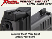 Dawson Precision HK VP9 Fixed Carry Sight Set - Black Rear & Black Front