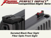 Dawson Precision HK VP9 Fixed Competition Sight Set - Black Rear & Fiber Optic Front