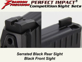 Dawson Precision HK VP9 Fixed Competition Sight Set - Black Rear & Black Front