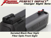 Dawson Precision S&W M&P Fixed Charger Sight Set - Black Rear & Fiber Optic Front