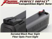 Dawson Precision S&W M&P Fixed Competition Sight Set - Black Rear & Fiber Optic Front