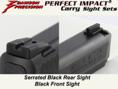 Dawson Precision S&W M&P Fixed Carry Sight Set - Black Rear & Black Front