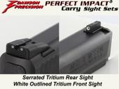 Dawson Precision S&W M&P Fixed Carry Sight Set - Tritium Rear & Tritium Front