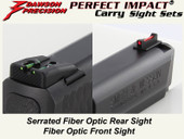 Dawson Precision S&W M&P Fixed Carry Sight Set - Fiber Optic Rear & Fiber Optic Front