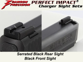 Dawson Precision S&W M&P Fixed Charger Sight Set - Black Rear & Black Front