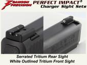 Dawson Precision S&W M&P Fixed Charger Sight Set - Tritium Rear & Tritium Front