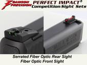 Dawson Precision S&W M&P .22 Fixed Competition Sight Set - Fiber Optic Rear & Fiber Optic Front