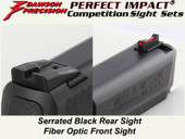 Dawson Precision S&W M&P .22 Fixed Competition Sight Set - Black Rear & Fiber Optic Front