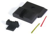 Warren Tactical S&W M&P Fixed Competition Sevigny Sight Set - Black Rear & Fiber Optic Front