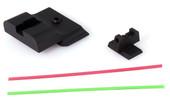 Warren Tactical S&W M&P Pro Fixed Competition Sevigny Sight Set - Black Rear & Fiber Optic Front