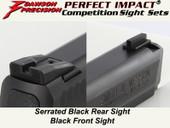 Dawson Precision S&W M&P .22 Fixed Competition Sight Set - Black Rear & Black Front