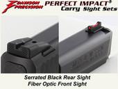 Dawson Precision S&W M&P Fixed Carry Sight Set Suppressor Height - Black Rear & Fiber Optic Front