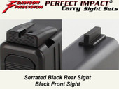 Dawson Precision Glock 43 Fixed Carry Sight Set - Black Rear & Black Front