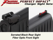Dawson Precision Walther PPQ/P99 Fixed Charger Sight Set - Black Rear & Fiber Optic Front