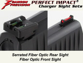 Dawson Precision Walther PPQ/P99 Fixed Charger Sight Set - Fiber Optic Rear & Fiber Optic Front