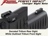 Dawson Precision Walther PPQ/P99 Fixed Charger Sight Set - Tritium Rear & Tritium Front