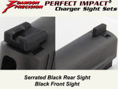 Dawson Precision Sig P Series Fixed Charger Sight Set - Black Rear & Black Front
