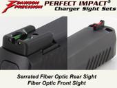 Dawson Precision S&W M&P Shield Fixed Charger Sight Set - Fiber Optic Rear & Fiber Optic Front