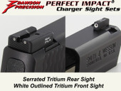 Dawson Precision S&W M&P Shield Fixed Charger Sight Set - Tritium Rear & Tritium Front