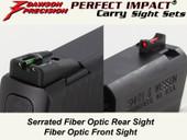 Dawson Precision S&W M&P Shield Fixed Carry Sight Set - Fiber Optic Rear & Fiber Optic Front