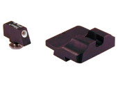 Warren Tactical Glock Fixed Tactical Sight Set - Black Rear & Tritium Front