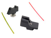 Warren Tactical Glock Fixed Carry Sevigny Sight Set - Black Rear & Fiber Optic Front