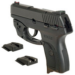 Dawson Precision Ruger LC9 Fixed Carry Fiber Optic Rear Sights