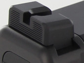 Dawson Precision Glock MOS Fixed Non Co-Witness Black Rear Sights