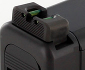 Dawson Precision Glock MOS Fixed Non Co-Witness Fiber Optic Rear Sights