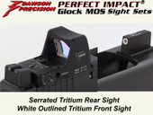 Dawson Precision Glock MOS Fixed Co-Witness Sight Set - Tritium Rear & Tritium Front(For Trijicon RMR and similar scope bases)